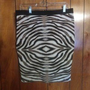 Three Hearts animal print pencil skirt